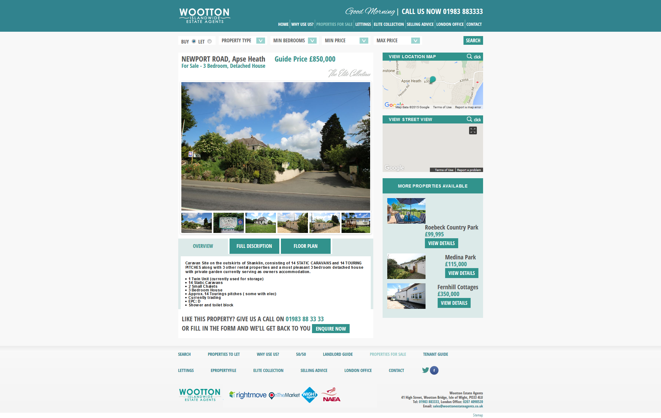 Wootton Estate Agents – NEWPORT ROAD, Apse Heath 2015-11-27 11-32-30