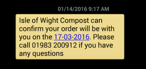wight compost sms confirmation