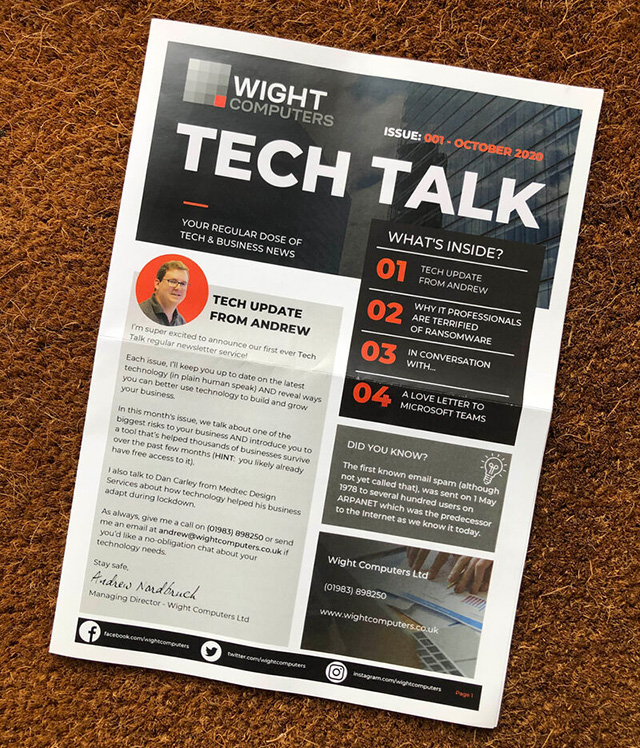 Tech Talk printed newsletter
