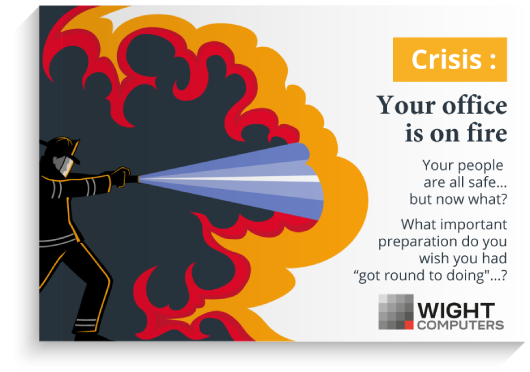 """Download our guide: """"Crisis: Your office is on fire"""""""