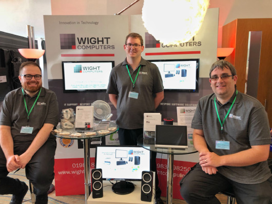 The Wight Computers team at the Expo 2019